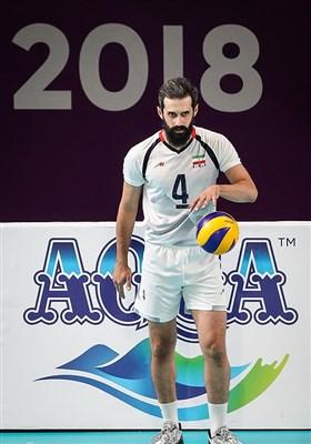 سعید معروف در دیدار تیمهای والیبال ایران و قطر - بازیهای آسیایی 2018