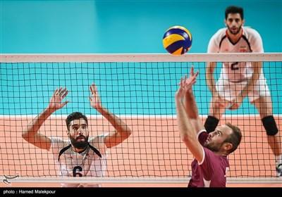 دیدار تیمهای والیبال ایران و قطر - بازیهای آسیایی 2018
