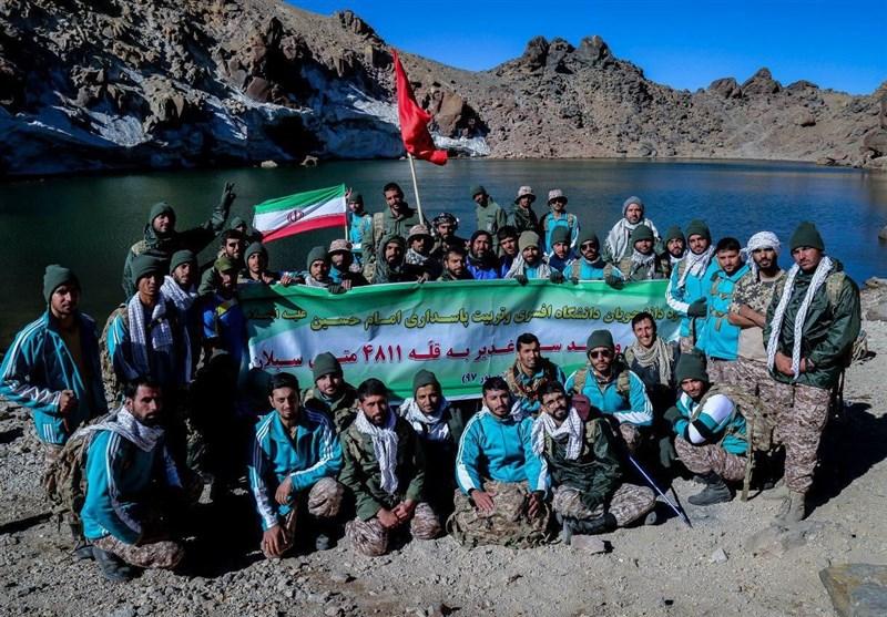 صعود دانشجویان دانشگاه افسری سپاه به قله سبلان