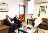 ظریف با وزیر اقتصاد پاکستان دیدار کرد