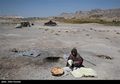 نمایی روستای عشایر بخش لادیز در میرجاوه