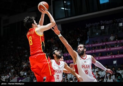 دیدار تیمهای ملی بسکتبال ایران و چین - فینال بازیهای آسیایی 2018