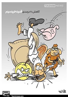 کاریکاتور/ کاهش 80درصدی قدرتخریدمردم!