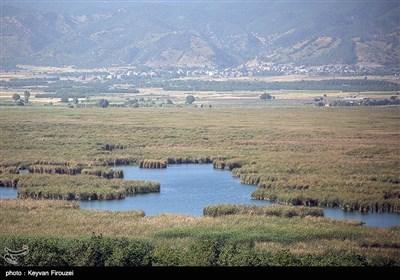 عنوان مرگ تدریجی بزرگترین دریاچه آب شیرین ایران