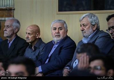 دارابی در مراسم ترحیم مرحوم قمشه معاون سابق امور مجلس کمیته امداد امام خمینی(ره)