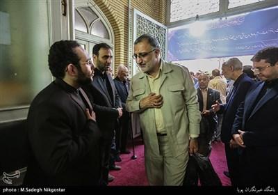 علیرضا زاکانی در مراسم ترحیم مرحوم قمشه معاون سابق امور مجلس کمیته امداد امام خمینی(ره)