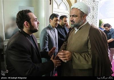 حمید رسایی در مراسم ترحیم مرحوم قمشه معاون سابق امور مجلس کمیته امداد امام خمینی(ره)