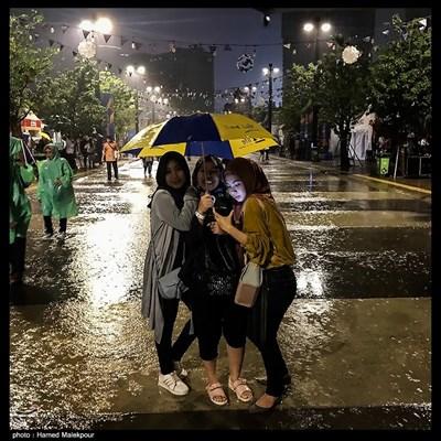 بارش شدید باران در آخرین روز از بازیهای آسیایی 2018 - جاکارتا