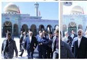 ظریف بارگاه حضرت زینب (س) را زیارت کرد+عکس