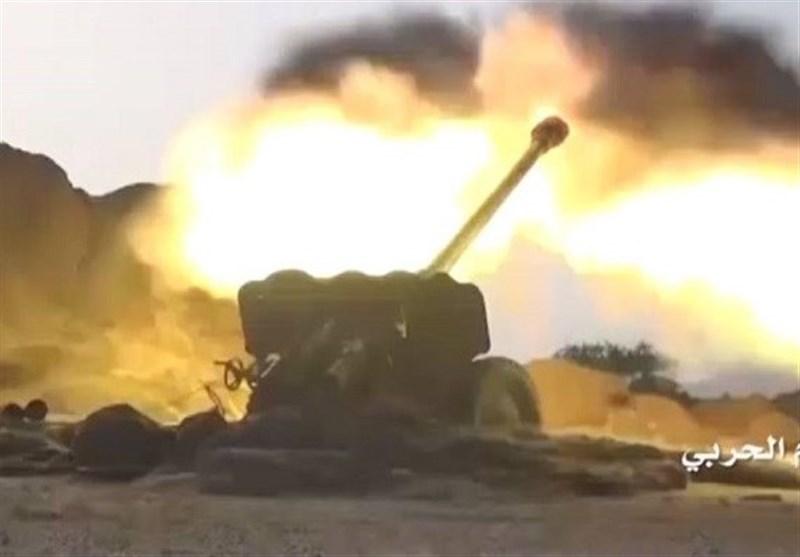 یمن| حمله موشکی و توپخانهای به مواضع نظامیان سعودی در نجران و جیزان