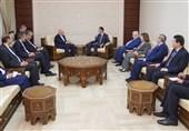 Iran FM Zarif Meets Syrian President Assad in Damascus