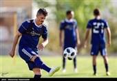 حضور بازیکنان در نشست خبری با لباسهای اسپانسر جدید تیم ملی