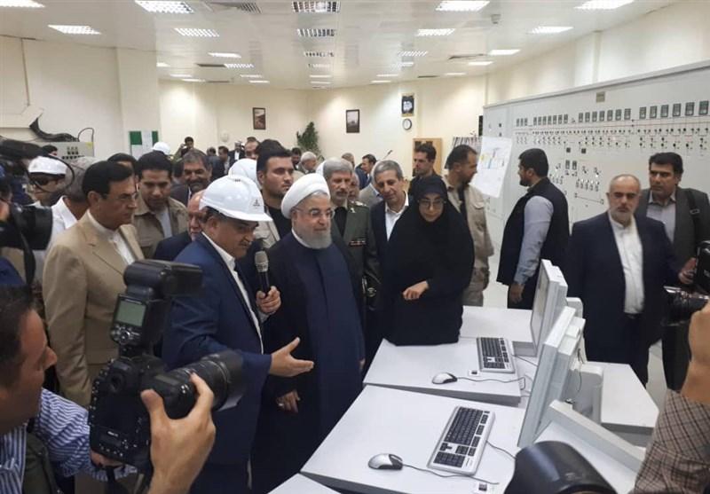 بوشهر| رئیس جمهور فاز یک پتروشیمی دماوند در عسلویه را افتتاح کرد