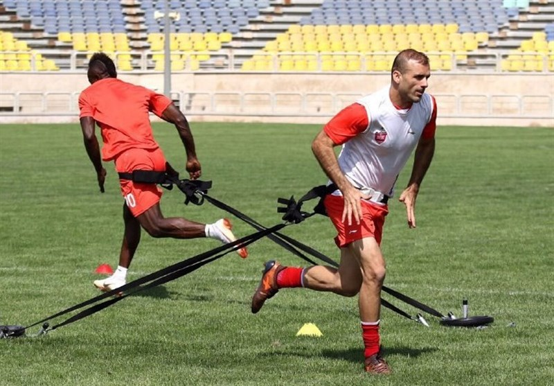 تمرین سنگین بازیکنان پرسپولیس در غیاب برانکو