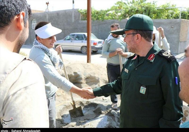بازدید فرمانده سپاه شهدای آذربایجان غربی از اردوهای جهادی+عکس