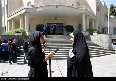 معصومه ابتکار معاون امور زنان و خانواده در حاشیه جلسه هیئت دولت