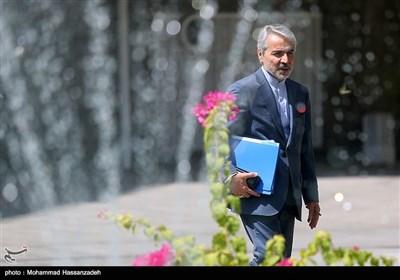محمدباقر نوبخت رئیس سازمان برنامه و بودجه کشور در حاشیه جلسه هیئت دولت