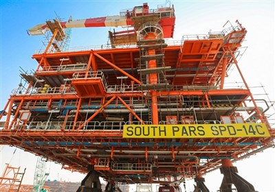 ۴ سکو و ۲ زنجیره دریایی در فاز ۱۴ میدان پارس جنوبی وارد مدار بهرهبرداری شد