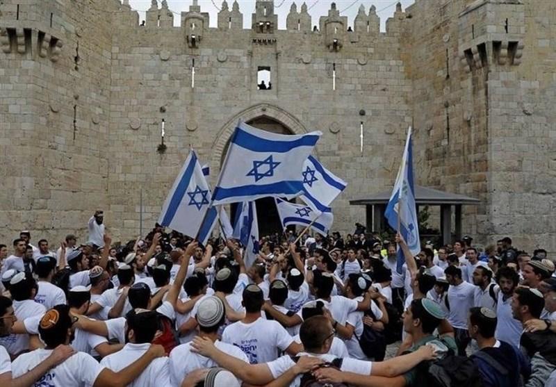 فلسطین|یورش صدها شهرکنشین صهیونیست به مسجدالاقصی
