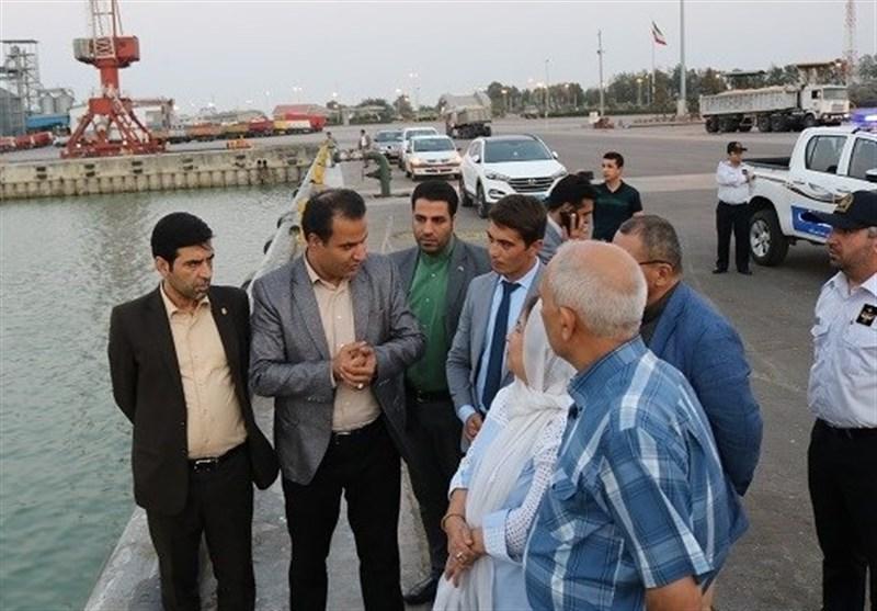 سفرای سه کشور از بندر امیرآباد بازدید کردند