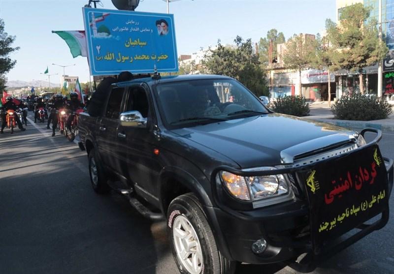 نمایش صلابت و اقتدار عاشورایی سپاهیان محمد (ص) در بیرجند+فیلم
