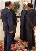 حاشیه نگاری تسنیم از اجلاس تهران|گفتوگوی چهار مقام ایرانی قبل از شروع نشست + عکس
