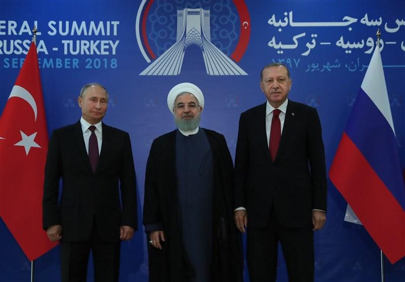 اجلاس سه جانبه تهران| تصویب بیانیه پایانی اجلاس/ تاکید روسای جمهور ایران، روسیه و ترکیه بر ادامه همکاری برای نابودی تروریستها در سوریه