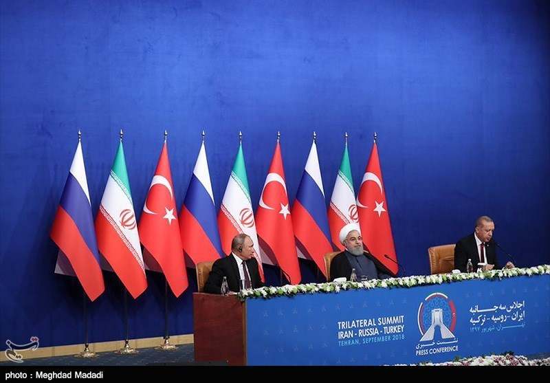 Presidents of Iran, Russia, Turkey Attend Press Conference after Tehran Summit