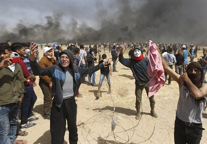 واپسی مارچ؛ مظاہرین پرصہیونیوں کی براہ راست فائرنگ میں فلسطینی جوان شہید