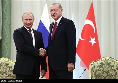 دیدار پوتین و اردوغان در حاشیه اجلاس سه جانبه تهران