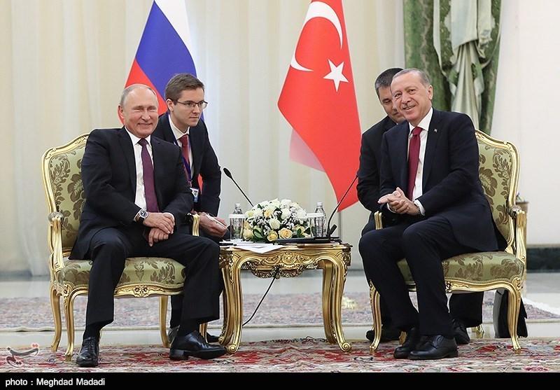 توافق پوتین-اردوغان برای ادامه تماسها پس از دیدار در تهران