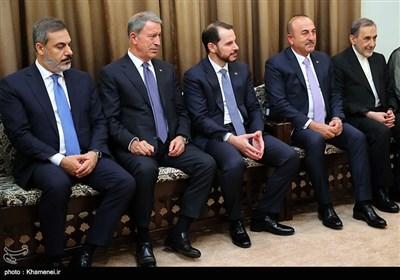 هیات همراه رییس جمهور ترکیه در دیدار با رهبر معظم انقلاب