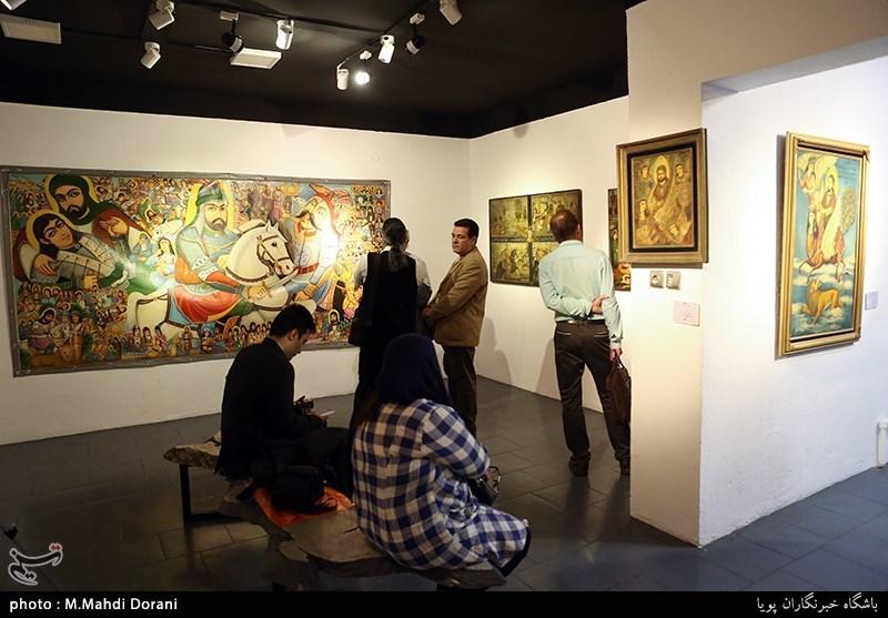"""نمایشگاه نقاشی با عنوان """"لحظه"""" در اردبیل گشایش یافت"""