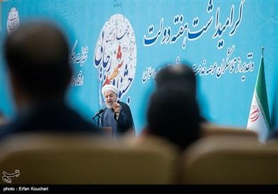 سخنرانی حسن روحانی رئیس جمهور در اختتامیه چهاردهمین جشنواره شهید رجایی