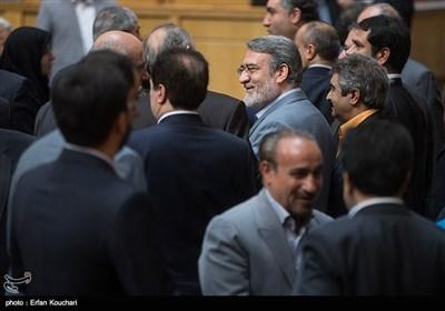 عبدالرضا رحمانی فضلی وزیر کشور در محمد جواد ظریف، وزیر امور خارجه در چهاردهمین جشنواره شهید رجایی