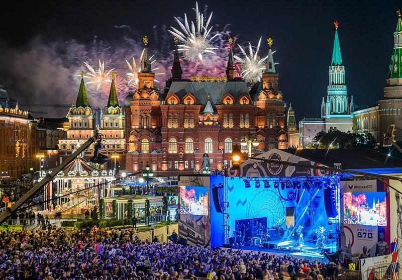 گزارش تسنیم| مسکو، پایتخت روسیه 871 ساله شد+تصاویر