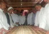 کاشان|آستان سلطان علی محمد باقر(ع) غبارروبی شد