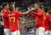 لیگ ملتهای اروپا| برتری اسپانیا در خانه انگلیس در شب اهدای کفش طلا به کین + عکس