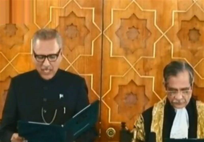 مراسم تحلیف سیزدهمین رئیس جمهور پاکستان برگزار شد