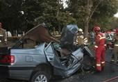مرگ تلخ راننده پژو 405 در میان آهنپارههای خودرو + تصاویر