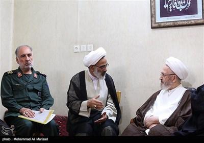 دیدار نماینده ولی فقیه در سپاه با مراجع عظام تقلید