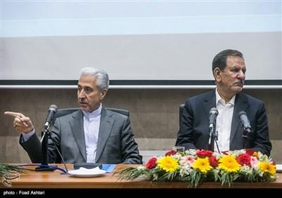 حضور اسحاق جهانگیری معاون اول رئیس جمهور و منصور غلامی وزیر علوم در نشست روسای دانشگاهها و مراکز آموزش عالی کشور