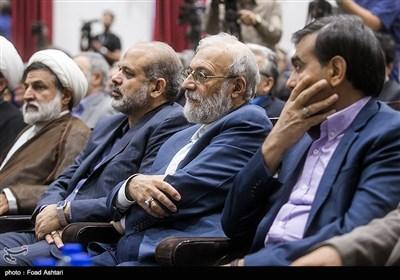 حضور محمد جواد لاریجانی دبیر ستاد حقوق بشر قوه قضائیه و سردار احمد وحیدی در نشست روسای دانشگاهها و مراکز آموزش عالی کشور