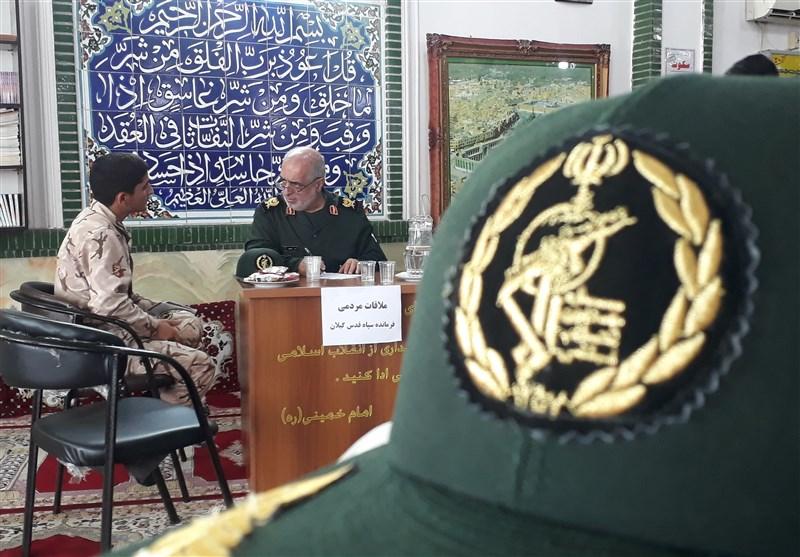 ملاقات چهره به چهره فرمانده سپاه قدس گیلان با مردم+ تصاویر