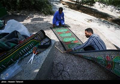 آماده سازی هیئت های مذهبی در آستانه ماه محرم - کیش