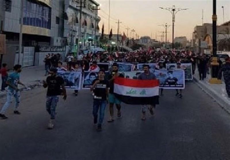 عراق  ازسرگیری تظاهرات در بصره همزمان با حضور العبادی