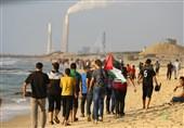 فلسطین  آغاز هفتمین راهپیمایی دریایی شکستن محاصره غزه/ زخمی شدن 5 فلسطینی