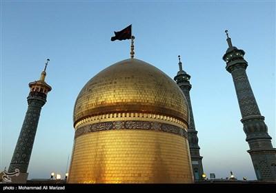 مراسم افتتاح رادیو محرم و تعویض پرچم حرم حضرت معصومه (س)
