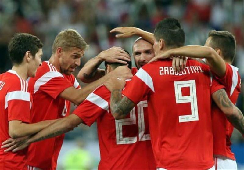 فوتبال جهان| برتری پرگل روسیه در بازی دوستانه