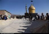 برپایی خیمه عزای امام حسین(ع) در دهزیار کرمان بهروایت تصویر
